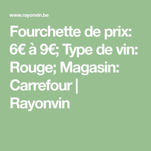 Fourchette de prix: 6€ à 9€; Type de vin: Rouge; Magasin: Carrefour | Rayonvin