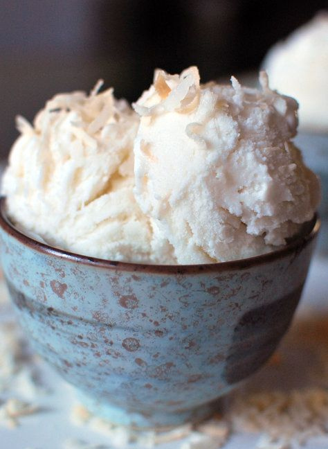 Recipe for Toasted Coconut Gelato - Plain old coconut ice cream sounds good, but toasted coconut ice cream jumps to a whole new level of deliciousness.