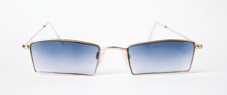 Custom-made gold plated sunglasses in nickel, designed and produced by General Eyewear, hand-made in England.