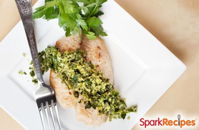 Minute Fish With Parsley Pesto
