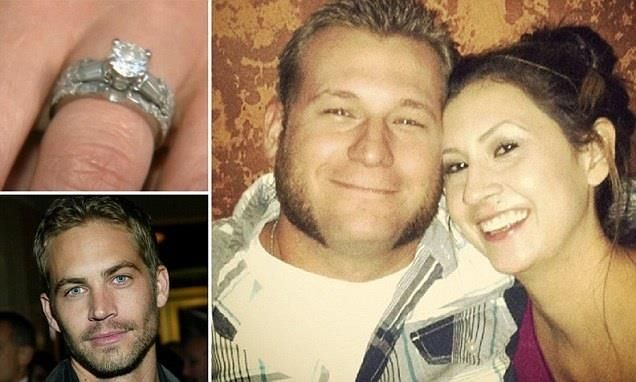 The late actor Paul Walker secretly bought an Iraq war veteran a $9,000 engagement ring for his new wife after overhearing the couple say it was too expensive  Soldier Kyle Upham and his new wife Kristen (right) were in the Santa Barbara jewellery store in 2004 looking for a diamond ring when they met the actor (left).  Mr Upham told Walker he had served in Iraq before the newlyweds left the store without a ring because the jewellery was too expensive.  A short time later, the couple were…