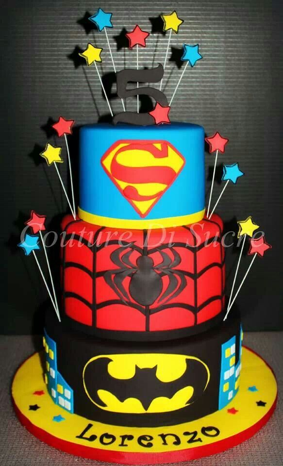 94 Best Cakes Super Heroes Images On Pinterest