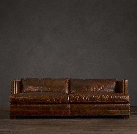 This is a leather sofa from restoration hardware that i for Who manufactures restoration hardware furniture