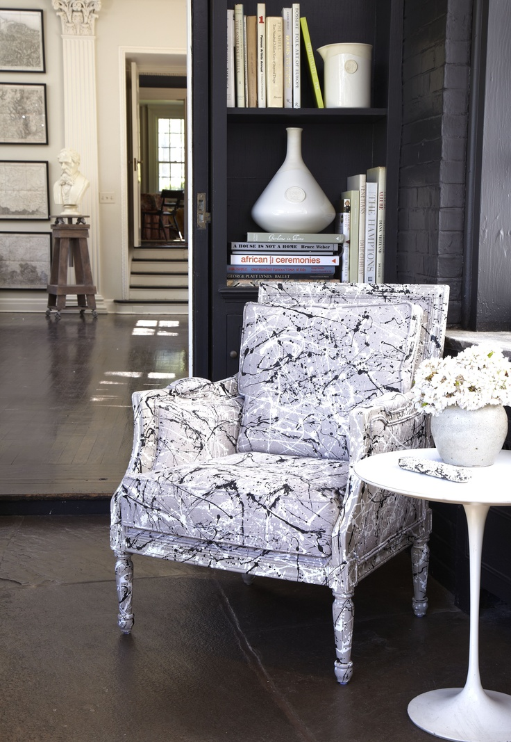 spatter paint chair inspired by jackson pollack for tozai. Black Bedroom Furniture Sets. Home Design Ideas