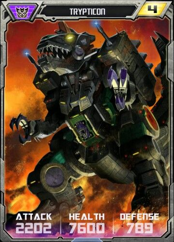Trypticon dinosaur card