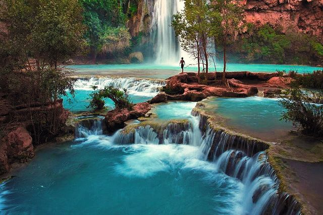 One of the most beautiful places in the world, Havasu Falls is a hidden tropical paradise in the Grand Canyon desert.