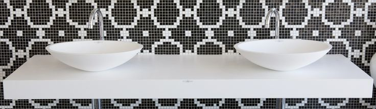 A #mosaic #wallpaper can be made in your own design to suit your size bathroom