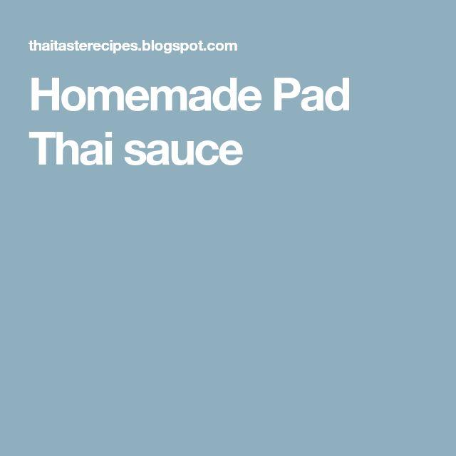 Homemade Pad Thai sauce