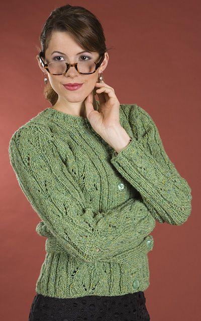 Unicorn Knitting Books : Stunning wavy lace cardigan knitting pattern provided for