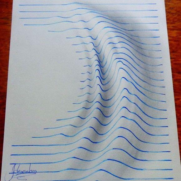 これはすごい!15歳少年が編み出した、ノートの線で描く飛び出す3Dイラスト