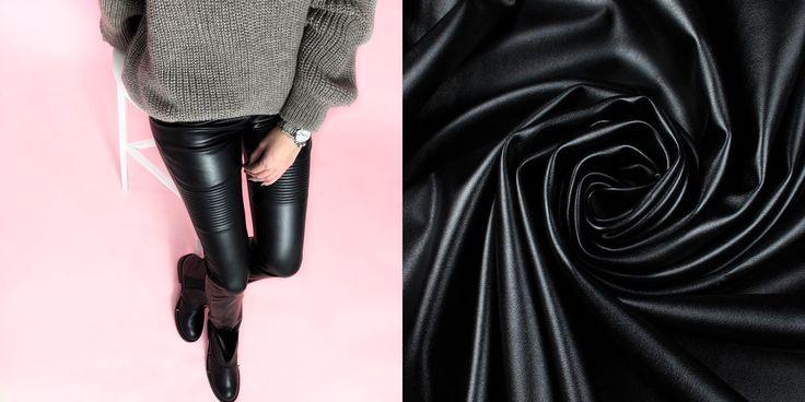 Kunstfasern - Stoff vegan Leder, Stretch eco-Leder, schwarz - ein Designerstück von svetavol bei DaWanda