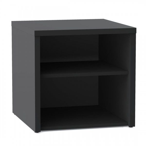 "Sereni-T Media Storage Unit (Black) (18.25""H x 19.75""W x 18.875""D)"
