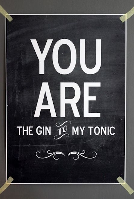 design is mine : isn't it lovely?: THOUGHT OF THE DAY : GIN & TONIC.