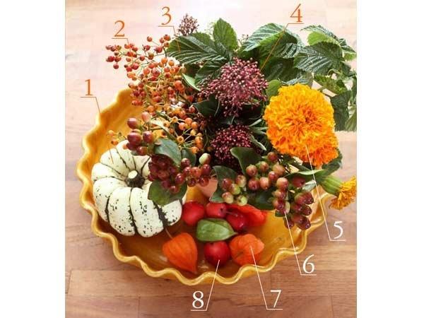 収穫祭にぴったりの豊かな花材をラインナップ