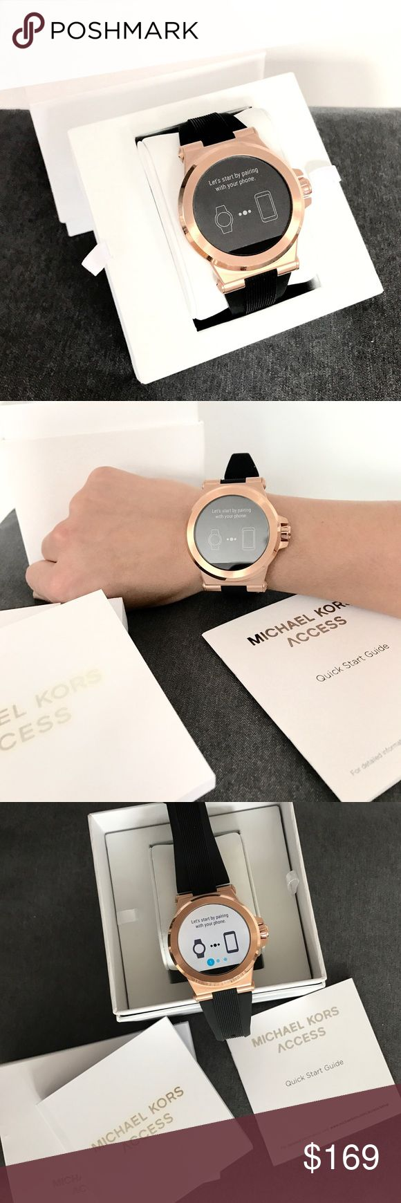 Brand New MK Unisex Access Dylan smartwatch Technology meets jet-set style with the Michael Kors Access Dylan rose gold-tone display smartwatch. Powered by Android Wear™, this smartwatch connects with your favorite apps and is compatible with Apple and Android smartphones. Has built-in fitness. Receive notifications, such as calls and alerts, at a glance as well. Fully personalize your watch by selecting or customizing the watch face of your choice and changing out the straps to match your…