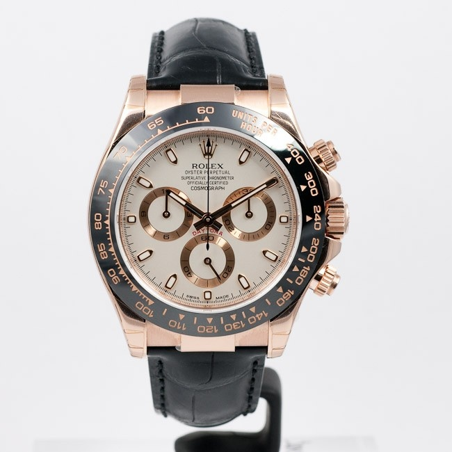 Rolex Rose Gold with Ceramic Bezel Watch.