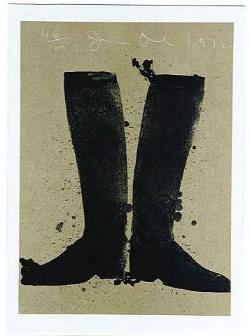 Boot silhouettes  by Jim Dine
