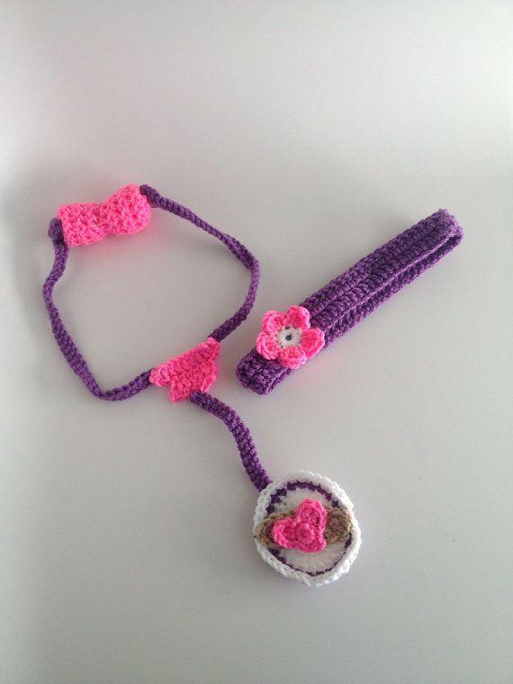 Doc Mcstuffin's Crochet Headband and Stethoscope set on Etsy, $30.00