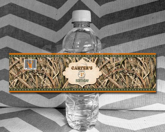 Get these personalized camo water bottle labels! Impress your guests or decorate your tables with these rustic water bottle wrappers. Laser