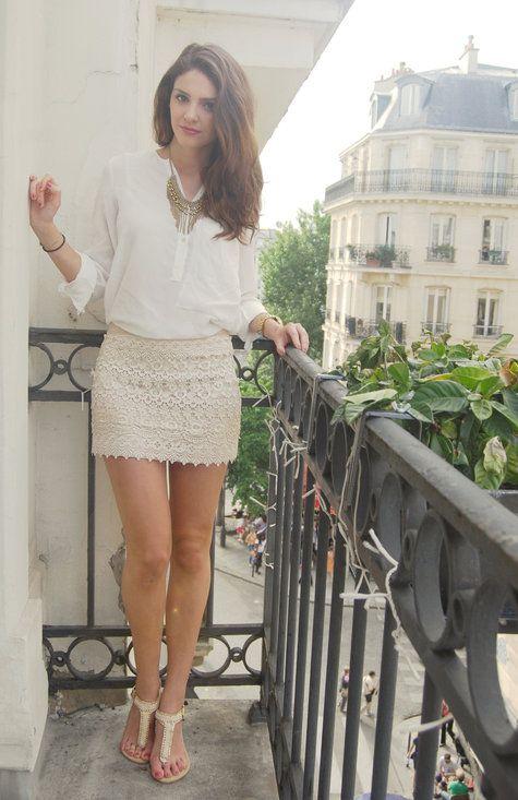 CROCHET SKIRT  , Zara in Shirt / Blouses, Necessary Clothing in Skirts, Primark in Gladiators