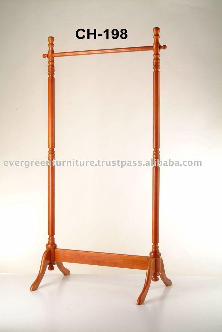 wooden garment rack photo detailed about wooden garment. Black Bedroom Furniture Sets. Home Design Ideas
