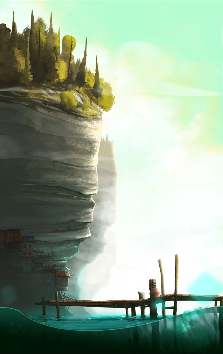 Fisherman Village, Clement dartigues on ArtStation at https://www.artstation.com/artwork/fisherman-village