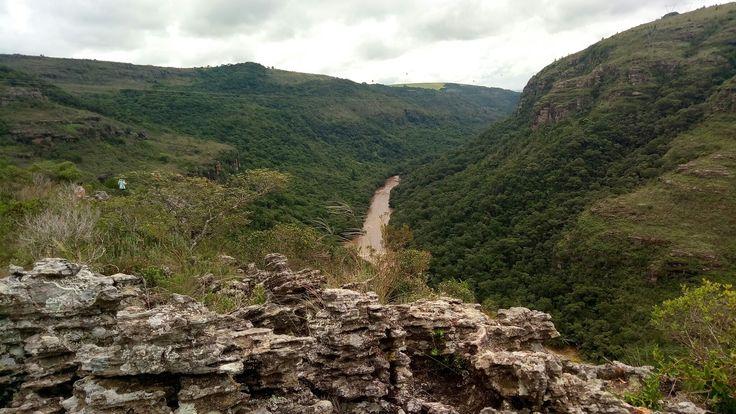 Vista do Canyon Guartelá, localizado em Tibagi/PR.