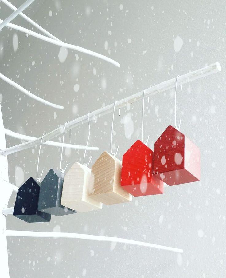 Baum(el)häuser handmade in Germany, minimalistische Weihnachtsdeko #design #