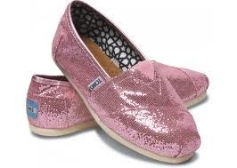 Pink Sparkly Toms:)