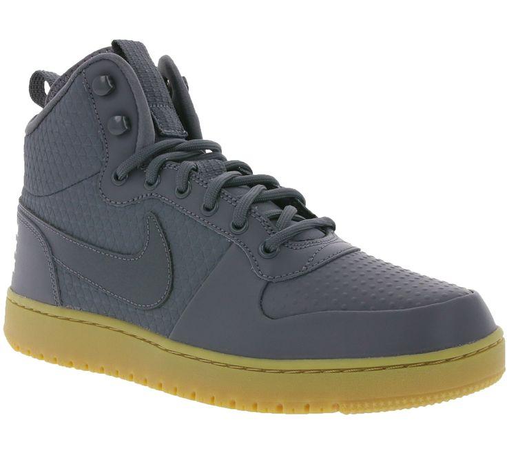 NIKE Court Borough Mid Winter Schuhe Herren Sneaker Turnschuhe Grau gefüttert - Blogger Club