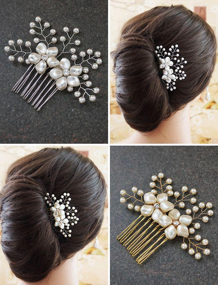 Swarovski pearls and crystals bridal headdress 3