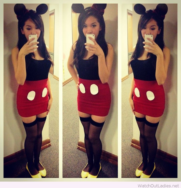 so cute halloween party mickey mouse costume tone it down for a child leotard tights maybe polka dot skirt and bow in middle of ears and you have minnie - Baby Mickey Mouse Halloween Costume