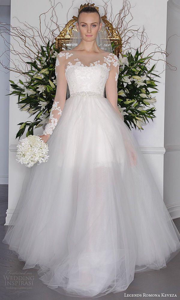 legends romona keveza fall 2016 a line mini wedding dress long sleeve illusion bodice detachable ball gown skirt l6135