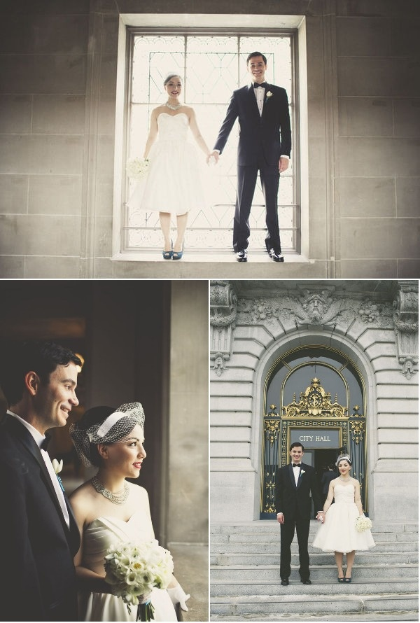 San Francisco Wedding at City Hall + Starbelly Restaurant | Style Me Pretty