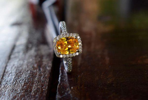 صور خواتم خطوبة من الالماس الاصفر الساحر والملوكي 2020 Druzy Ring Rings Jewelry