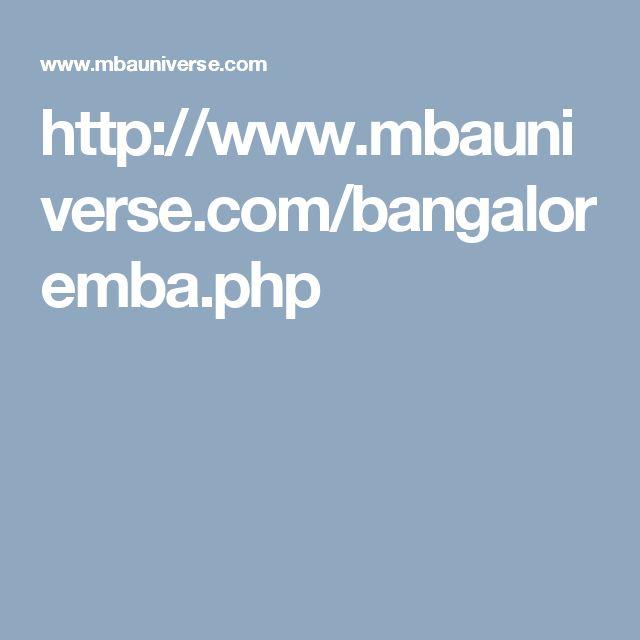 http://www.mbauniverse.com/bangaloremba.php