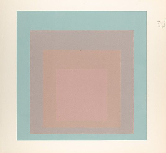 proof for white line square series, 1966 • josef albers
