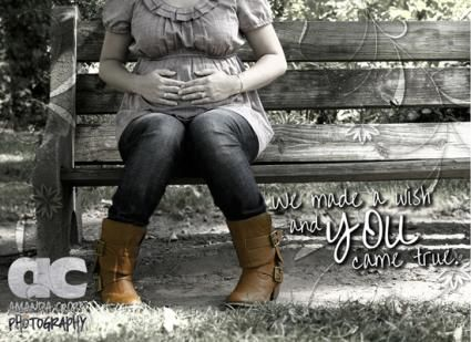 Maternity - pretty bench shot. This is really pretty to me. I like the colors.