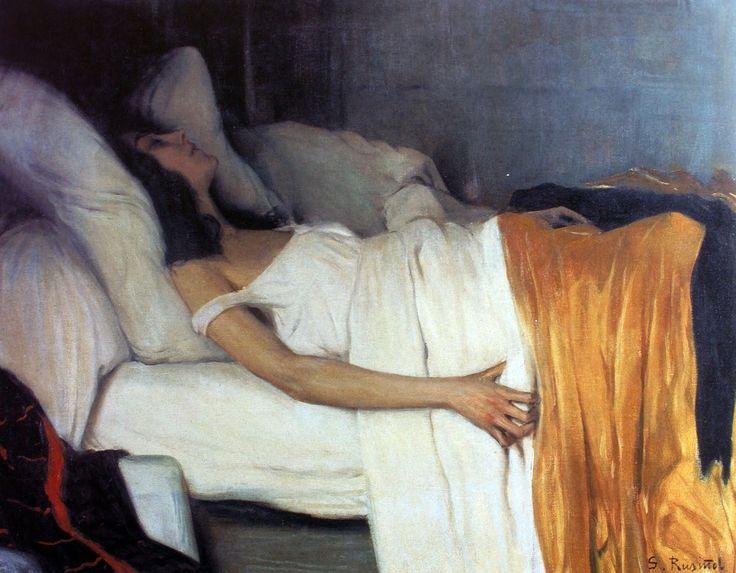 'La Morphine' (1894) by Santiago Rusiñol. Oil on Canvas. Museu del Cau Ferrat.