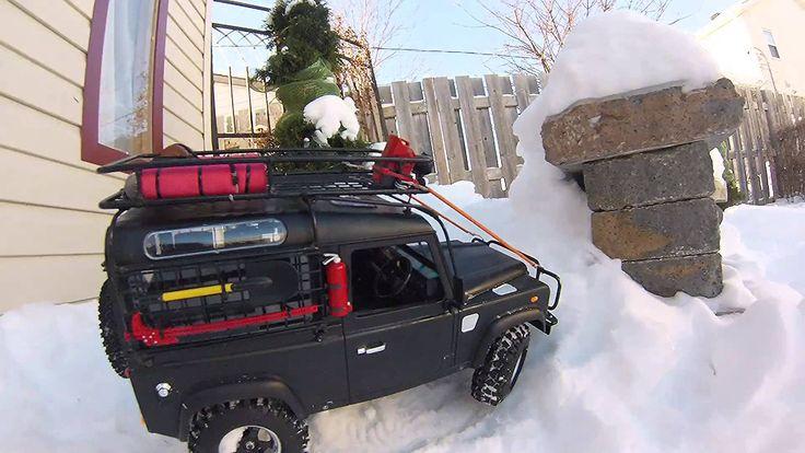 RC Scale Crawler 4x4 - Gelande 2 D90 Snow hill climbing