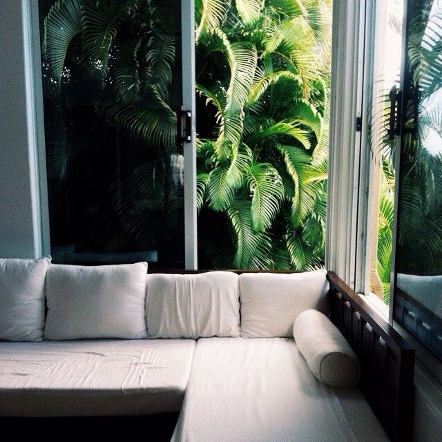 white interior + tropical exterior #ELLEMERswimwear