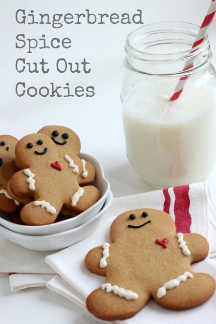 Gingerbread Spice Cut Out Cookies @createdbydiane