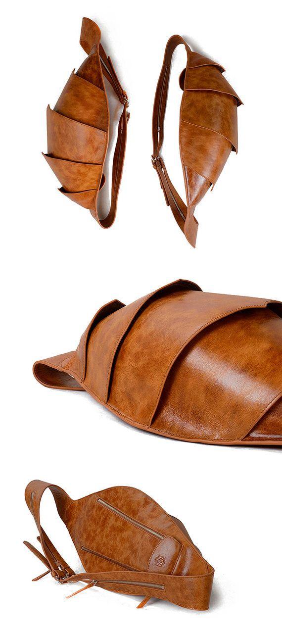 Leather Messenger Backpack Men's Messenger Bag Cool by KiliDesign