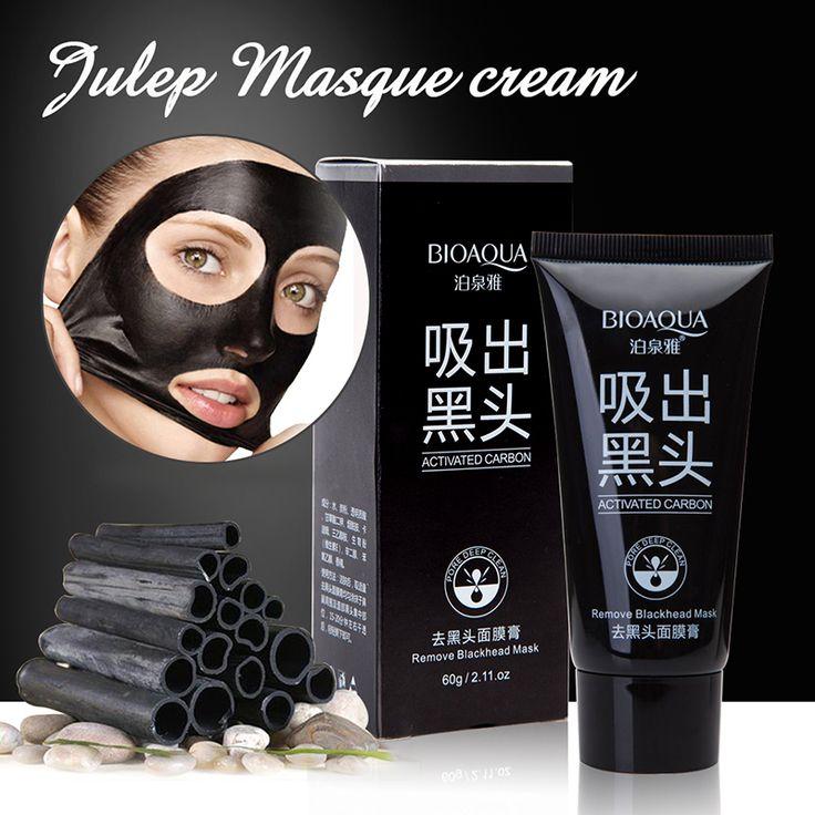 BIOAQUA Face Care Suction Black Mask Facial Mask Nose Blackhead Remover Peeling Peel Off Black Head Acne Treatments Mask  [Affiliate]