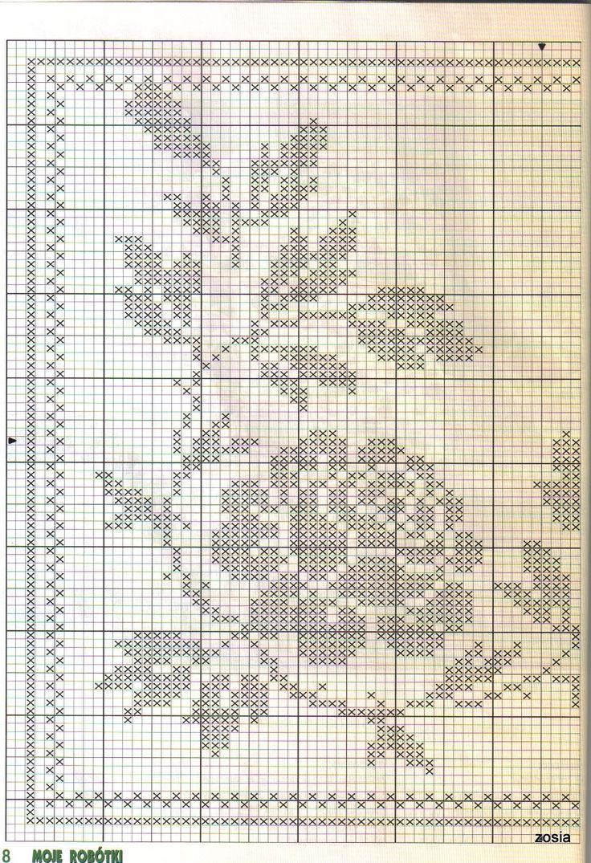 Crochet filet roses