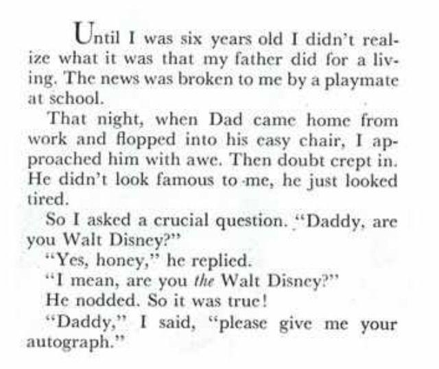 Written by walt disney's daughter