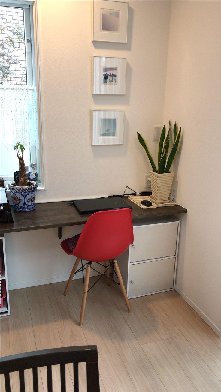 築3年でも、新築のままの綺麗さを保ちたい⭐︎ 我が家のリビング一角の、フリーカウンター。パソコンや書類関係を扱うスペース。