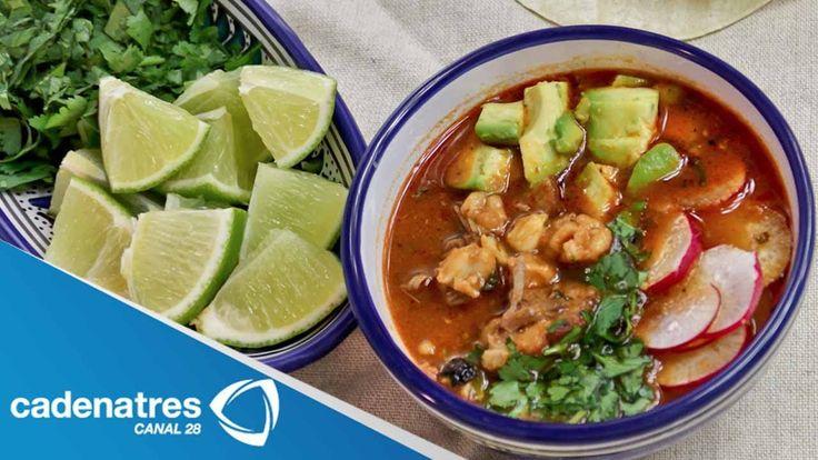 Receta para preparar pozole rojo. Receta de pozole / Receta comida mexicana / Antojitos mexicanos