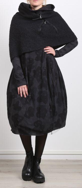 rundholz black label - Shirtkleid in Ballonform mit Print black print - Winter…