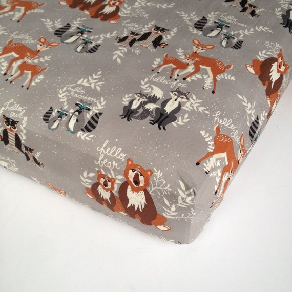 Woodland Crib Bedding Changing Pad Cover And By Babiease